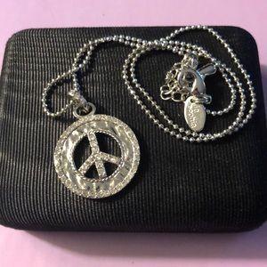 Lia Sophia Peace Sign Necklace